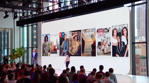 Google與媒體集團康泰納仕合作,最新一期7個雜誌封面都是由Pixel 3拍攝而成,證明其相機強大功能。(圖/Google直播YouTube截圖,數位時代提供)