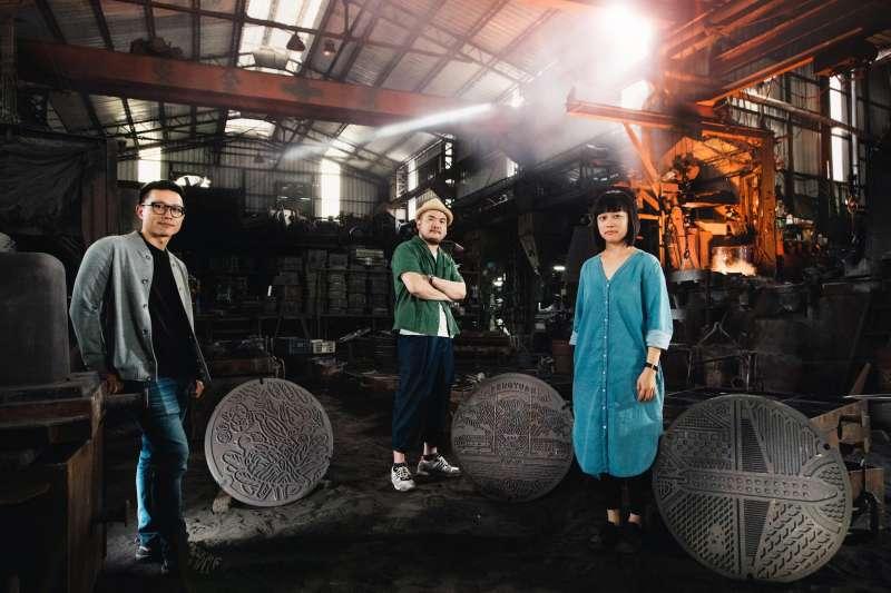 藝術家由左至右-川貝母-鄒駿昇-陳姝里(圖/台中市政府提供)