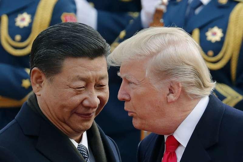 習近平、川普、中美貿易戰。(美聯社)