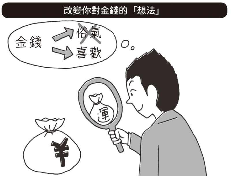 許多日本人的DNA中似乎被植入了「錢=俗氣東西」的刻板觀念。(圖/野人文化提供)