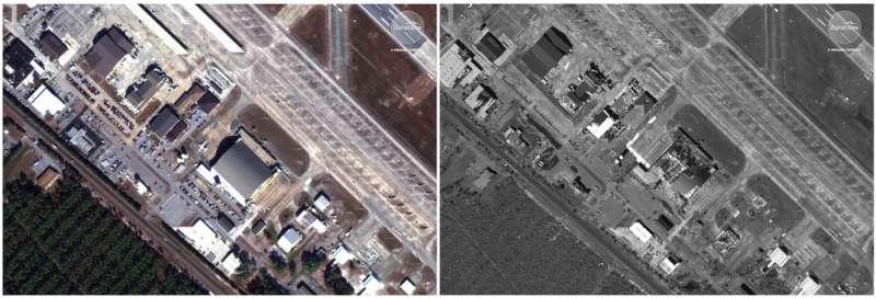 廷德爾空軍基地飽受風災摧殘,F-22戰機更是損失慘重。(美聯社)