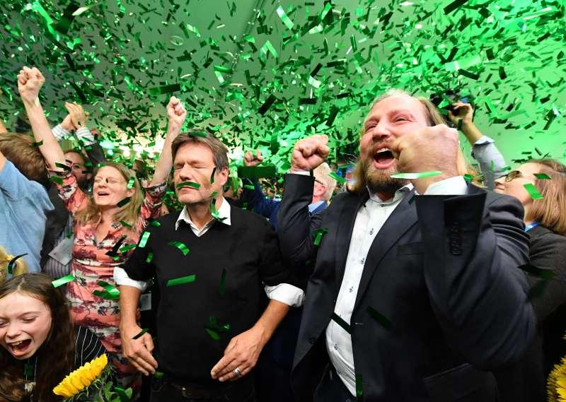 14日德國巴伐利亞邦議會選舉,綠黨一舉躍升第二大黨。(美聯社)