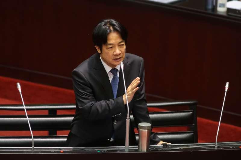 20181016-行政院長賴清德16日於立院備詢。(顏麟宇攝)