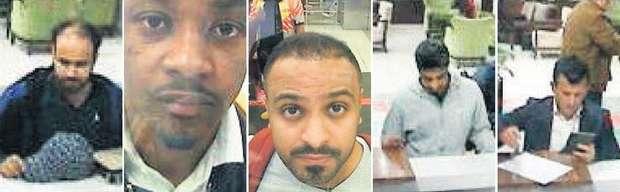 沙烏地阿拉伯記者哈紹吉離奇失蹤案的15名嫌疑人曝光。(取自機場監視器畫面)
