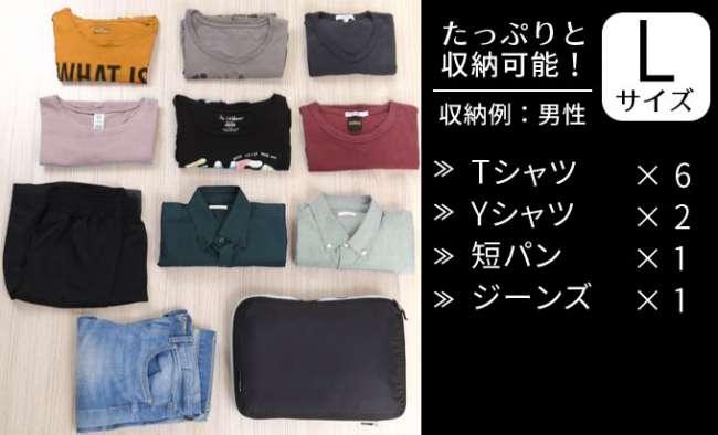 ▲大型壓縮袋可收納衣物容量。(圖/翻攝自 Makuake,智慧機器人網提供 )