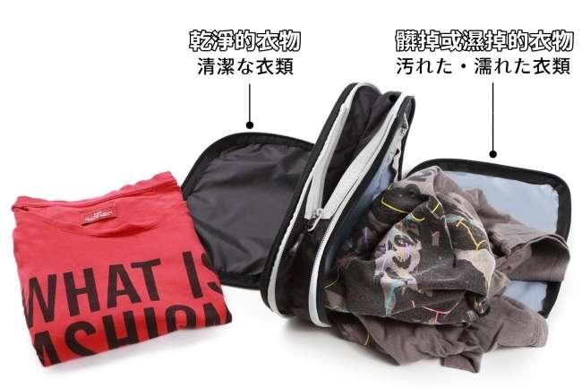 ▲防水與雙層設計可以分開髒污與乾淨的衣物。(圖/翻攝自 Makuake,智慧機器人網提供 )