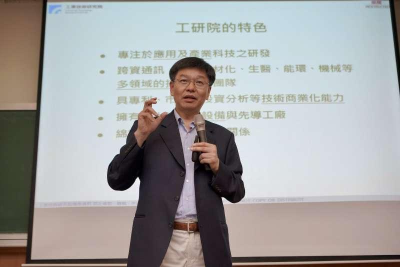 工研院副院長彭裕民鼓勵新鮮人勇於實現創新發明家、創業實踐家、科技關懷家的夢想,以科技研發擴散影響力。(圖/工研院提供)