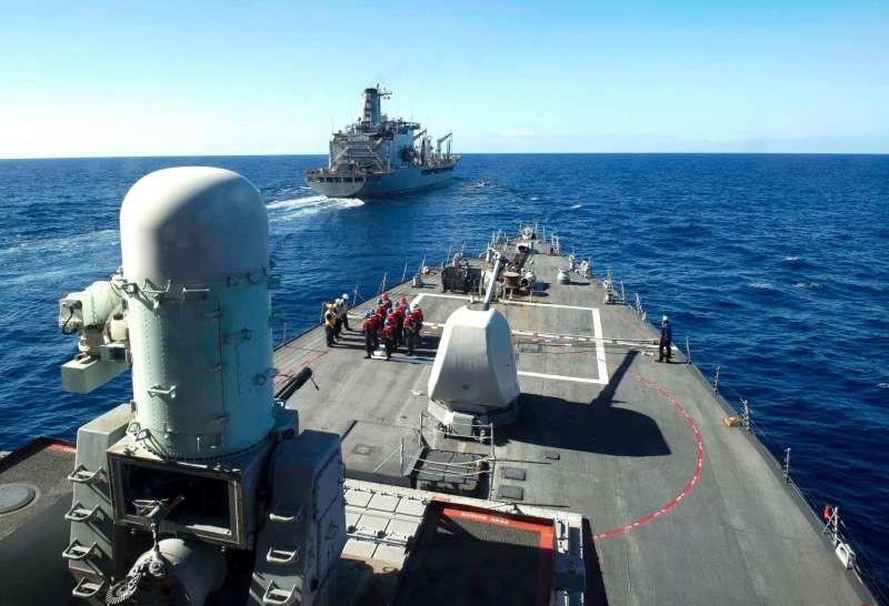 今年7月通過台灣海峽的美軍飛彈驅逐艦「班福德號」(USS Benfold)(USS Benfold FB)