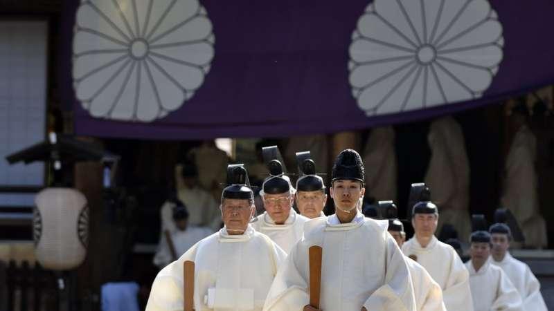 靖國神社的春季大典。(圖/BBC中文網)