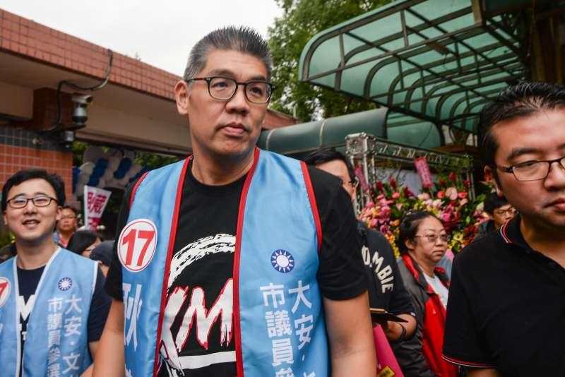 20181020-耿葳競選總部成立大會,前台北市長候選人連勝文出席。(甘岱民攝)