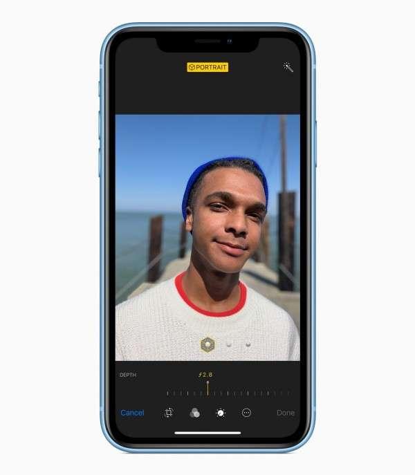 XR就算只有單主鏡頭,但也有「人像模式」,可拍出主體清楚、背景模糊的景深照。(圖/智慧機器人網提供)