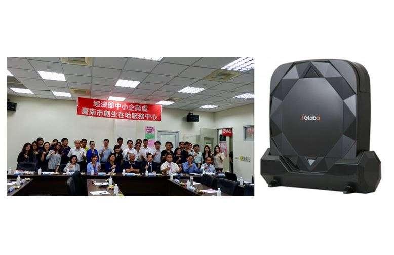 圖說:台南創生在地服務中心協助聯潤科技,進行智慧型掃地機器人的產品開發及系統升級