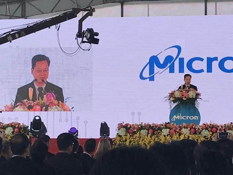 20181026-全球記憶體大廠美商美光科技在台灣新建DRAM後段封測廠26日盛大開幕,經濟部次長龔明鑫致詞時表示,台灣在未來的5到10年內,很可能成為全世界半導體發展成長最快的國家,竭誠歡迎更多跨國企業來台投資。(廖羿雯攝)