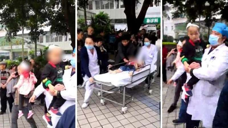 重慶巴南區26日發生幼兒園孩童被砍事件。