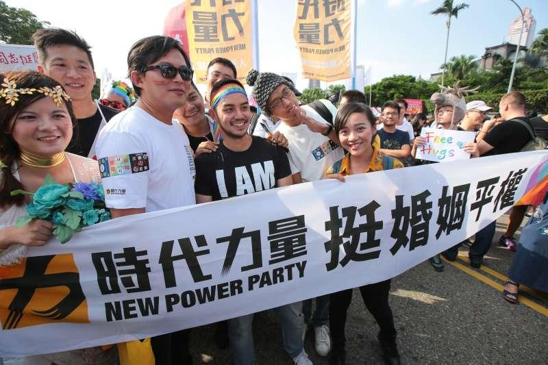 20181027-時代力量立委黃國昌27日參與2018台灣同志遊行。(顏麟宇攝)