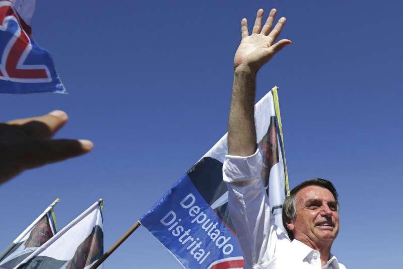 2018年巴西總統大選,博索納羅。(AP)