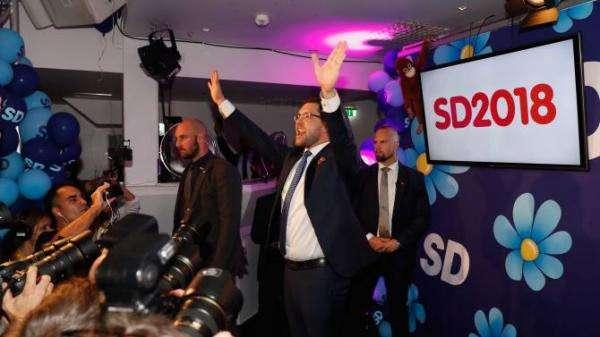 はなE:圖一:極右黨SD的黨魁奧爾松。(作者提供)