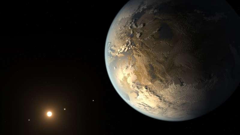 克卜勒太空望遠竟發現的「kepler186f」類地行星。(取自NASA官網)
