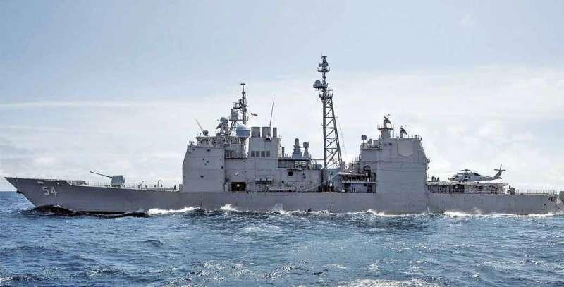 美國國防部發表美軍雙艦穿越台灣海峽(Facebook U.S.Navy/作者提供)