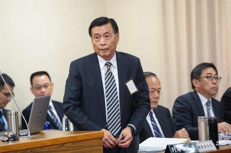20181101-國安局長彭勝竹1日於外交國防委員會備詢。(顏麟宇攝)