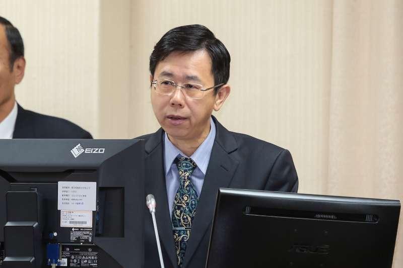 20181101-調查局長呂文忠1日於外交國防委員會備詢。(顏麟宇攝)