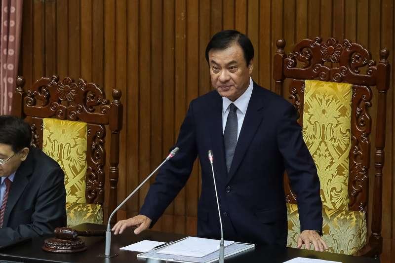 20181102-立法院長蘇嘉全1日主持國是論壇。(顏麟宇攝)
