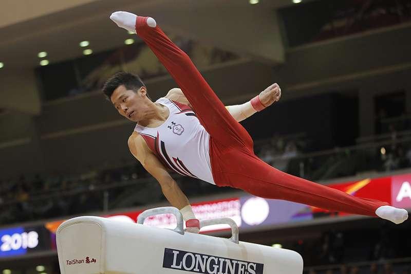 我國體操鞍馬好手李智凱,參與2018卡達多哈體操世錦賽鞍馬項目,以14.966分拿下銅牌,是我國史上在世錦賽的第2面。(美聯社)