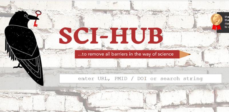 反擊掠奪型期刊的Sci-Hub網站。(網站截圖)