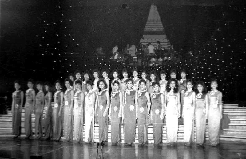 環球、世界、國際小姐1988年中華民國小姐選拔會,在台北中華體育館舉行複選,有20位佳麗入圍總決選。(圖/文化+)