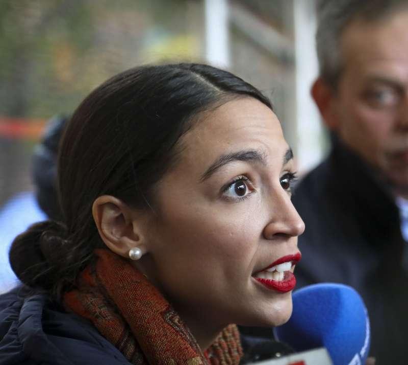 2018年美國期中選舉,民主黨眾議院新秀奧卡西歐─寇特茲(Alexandria Ocasio-Cortez)(AP)