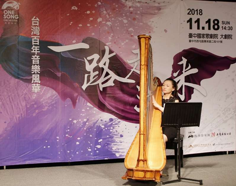 豎琴家黃立雅(中國國家大劇院豎琴首席)演奏《雙喜》豎琴協奏曲。(正聲廣播電台提供)