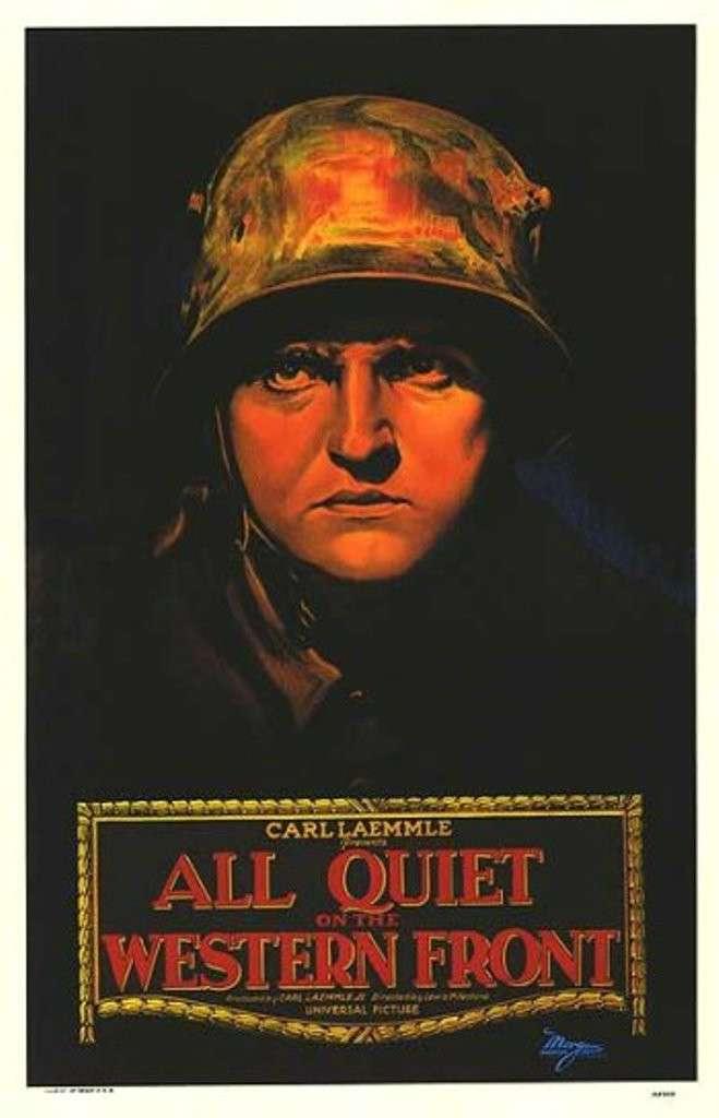 《西線無戰事》電影海報。(維基共享資源,版權屬公有領域)