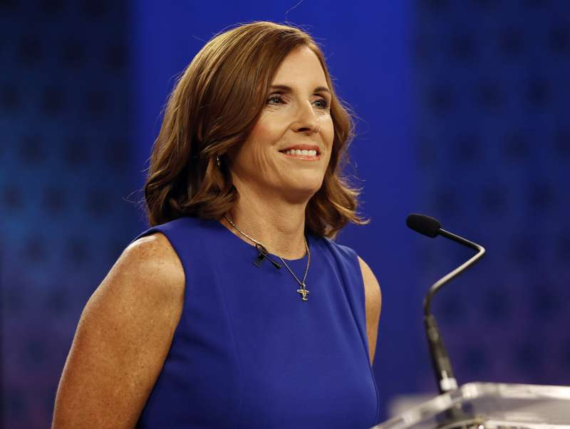 美國共和黨亞利桑那州聯邦參議員候選人麥克莎莉(美聯社)