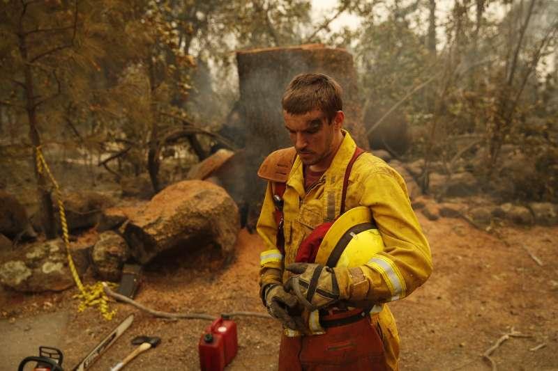 2018年11月,加州野火(AP)