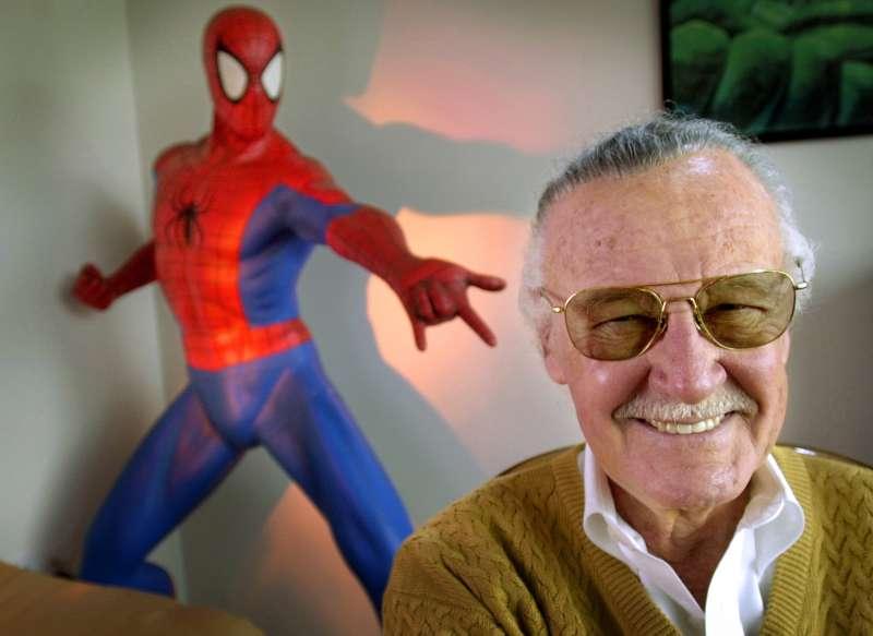 美國漫畫史傳奇人物史丹李(Stan Lee)(AP)