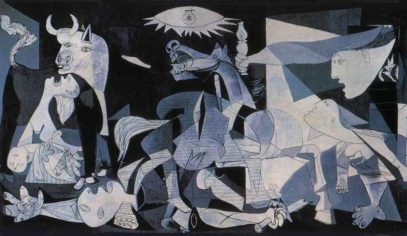 1937年《格爾尼卡》/收藏於馬德里索菲亞王后藝術中心(圖/城市美學新態度)