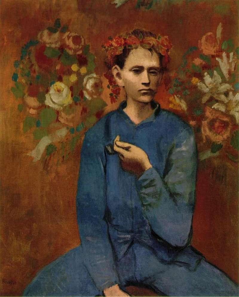 1905年《拿著菸斗的男孩》,畢卡索於玫瑰色時期(1904-1906)代表作品(圖/城市美學新態度)