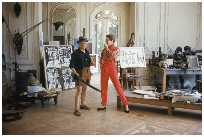 Retrato de Pablo Picasso con Bettina Graziani por Mark Shaw, Villa La Californie, Cannes(圖/城市美學新態度)
