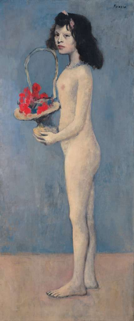 玫瑰時期《持花籃的女孩》(圖/城市美學新態度)