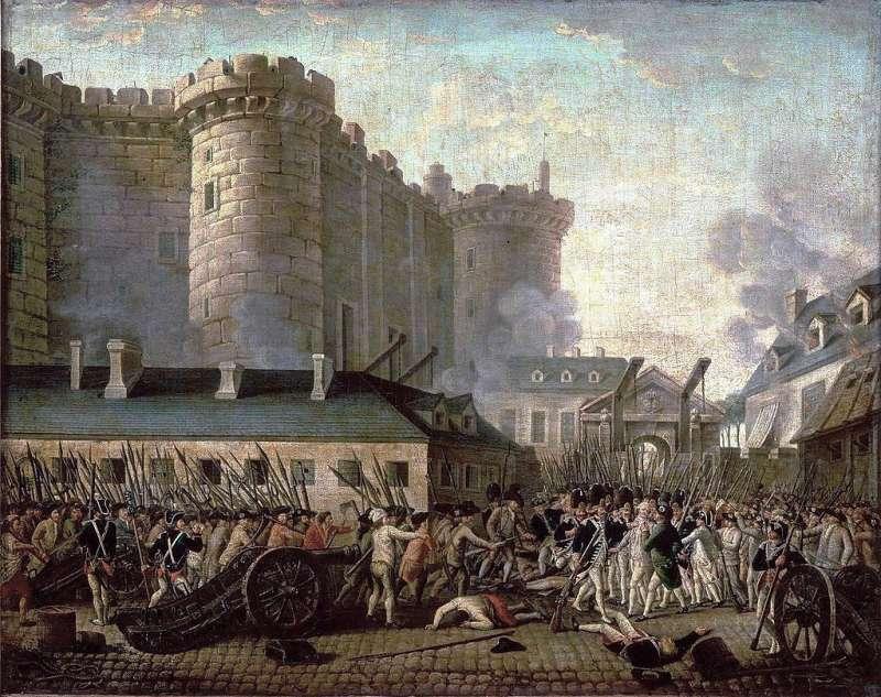 1789年7月法國巴黎動亂四起,民眾攻陷巴士底獄(Bastille),法國大革命爆發。(Wikipedia / Public Domain)