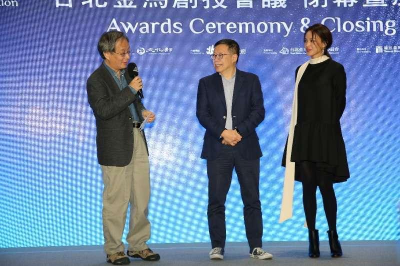 金馬創投35件入選作品,嚴格的評審陣容來自小野(左)、利雅博(中)及舒淇(右)。