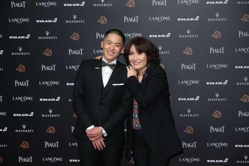 導演徐譽庭和許智彥神情相當興奮,期待能抱獎而歸。(圖/顏麟宇攝)