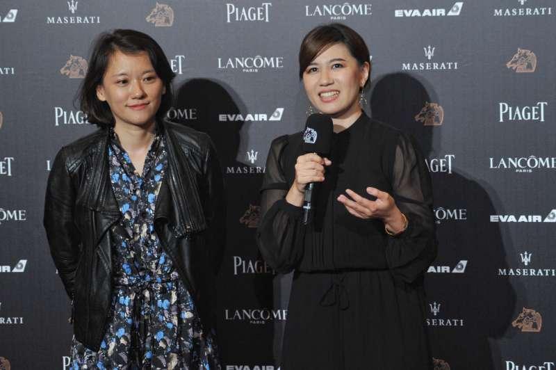 20181117-第55屆金馬獎,《我們的青春,在台灣》最佳紀錄片,導演傅榆(右)。(甘岱民攝)