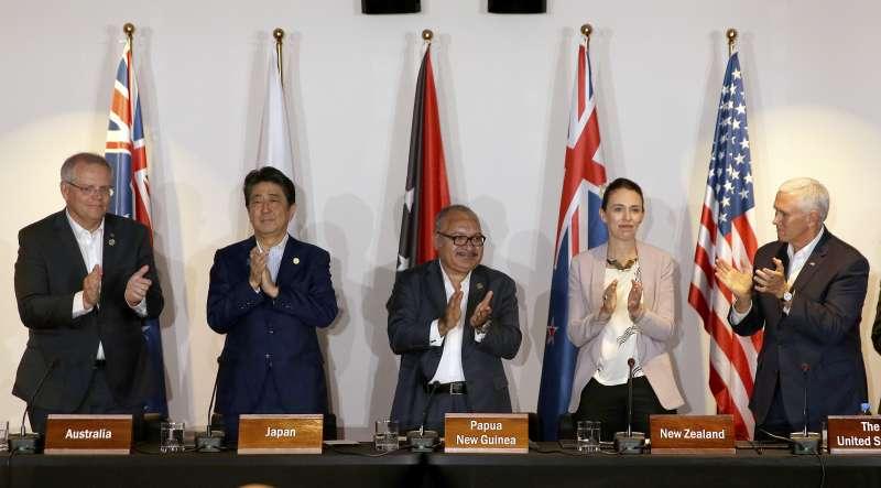 美國、澳洲、日本和紐西蘭四國18日宣布將投入17億美元資金,協助巴紐建設基礎電力和網路設備。(美聯社)
