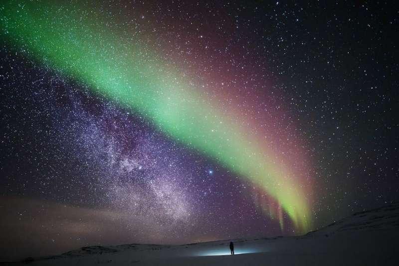 極光在西方被稱為Aurora,為羅馬神話曙光女神之名(圖/奧丁丁)