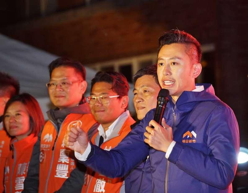 20181123-新竹市長林智堅出席選前之夜造勢。(盧逸峰攝)