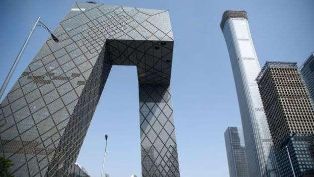 中國央視大樓被戲稱為「大褲衩」。(圖/BBC中文網)