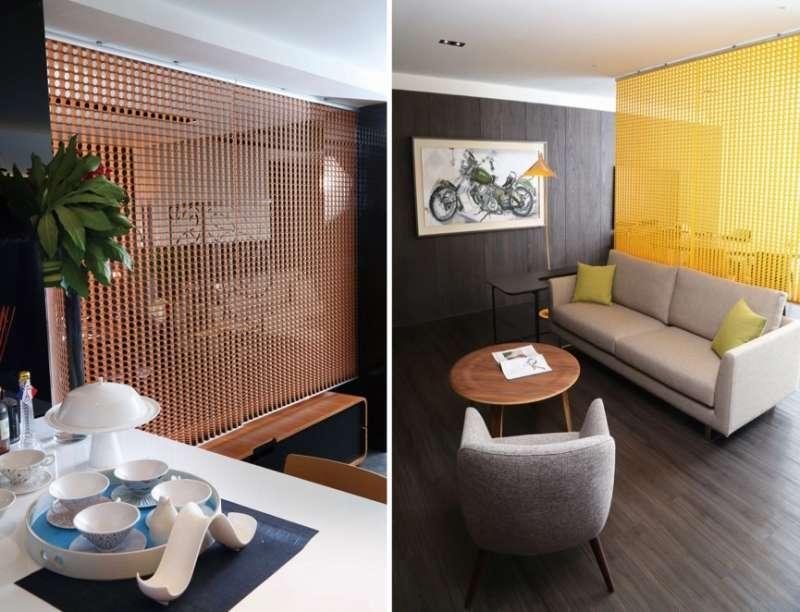 色彩繽紛且樣式多元,有越來越多商業空間選用 Bonito鏤空裝飾隔間簾