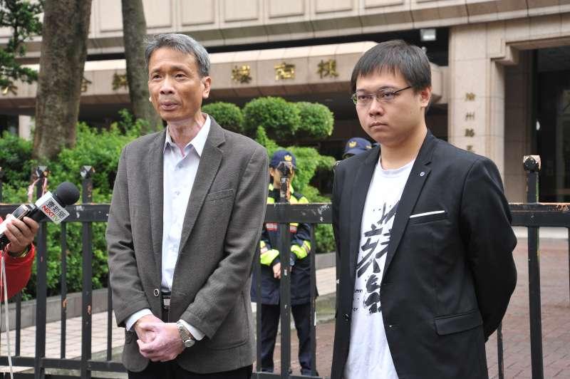 20181126-以核養綠記者會,國立清華大學工程與系統科學系教授葉宗洸(左)與以核養綠公投領銜人黃士修。(甘岱民攝)