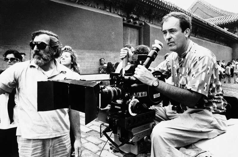 1987年,貝托魯奇在中國北京紫禁城拍攝《末代皇帝》(美聯社)